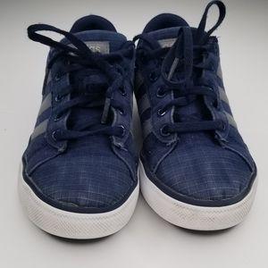 Adidas Neo Boy Sneakers  Size 1.5  Navy Gray White